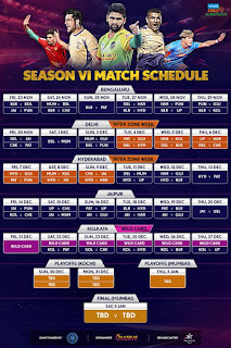Pro kabaddi, pro kabaddi schedule, pro kabaddi schedule 2018, pro kabaddi season 6 schedule, Pro Kabaddi time table, statewise schedule of pro kabaddi mathces season 6, vivo pro kabaddi 2018 schedule,