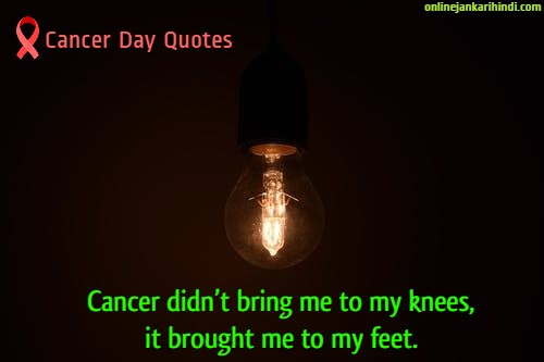 World Cancer Day 2020 inspiring Quotes