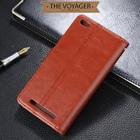 Leather flip case cover wallet dompet casing hp kulit Xiaomi Redmi 3