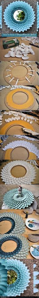 manualidad con cucharas de plastico recicladas