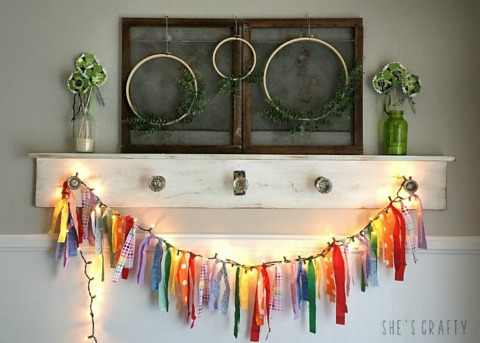 How to make a DIY lighted rainbow fabric banner