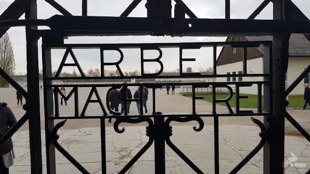 Arbeit macht frei en Dachau