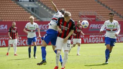 ملخص واهداف مباراة ميلان وسامبدوريا (1-1) الدوري الايطالي