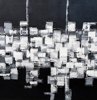 cuadros abstractos decoración salón
