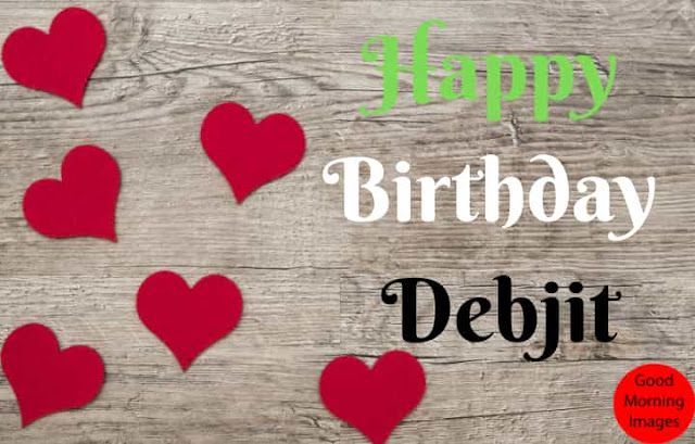 Birthday images with name debjit