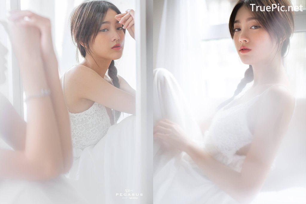 Image Thailand Model - Pimploy Chitranapawong - Beautiful In White - TruePic.net - Picture-1