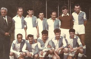 Bosmy Pîtres - Le Club Andelle Pîtres en 1967. A gauche René Bosmy