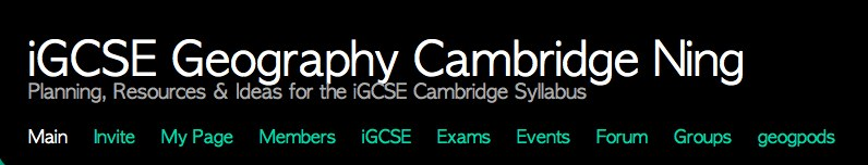 LivingGeography: New NING for iGCSE Geography