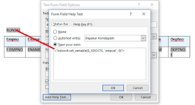 Running Total Variable Define xml reports