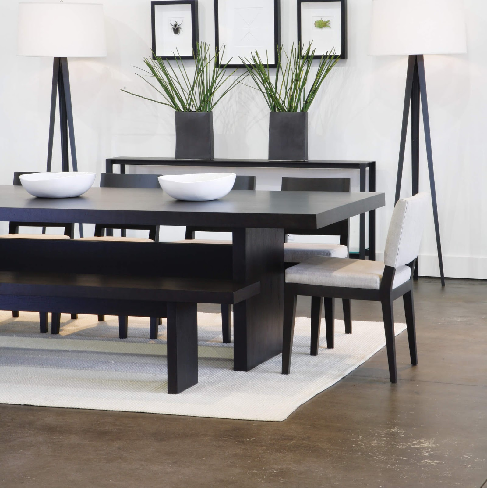 Black dining room furniture decorating ideas