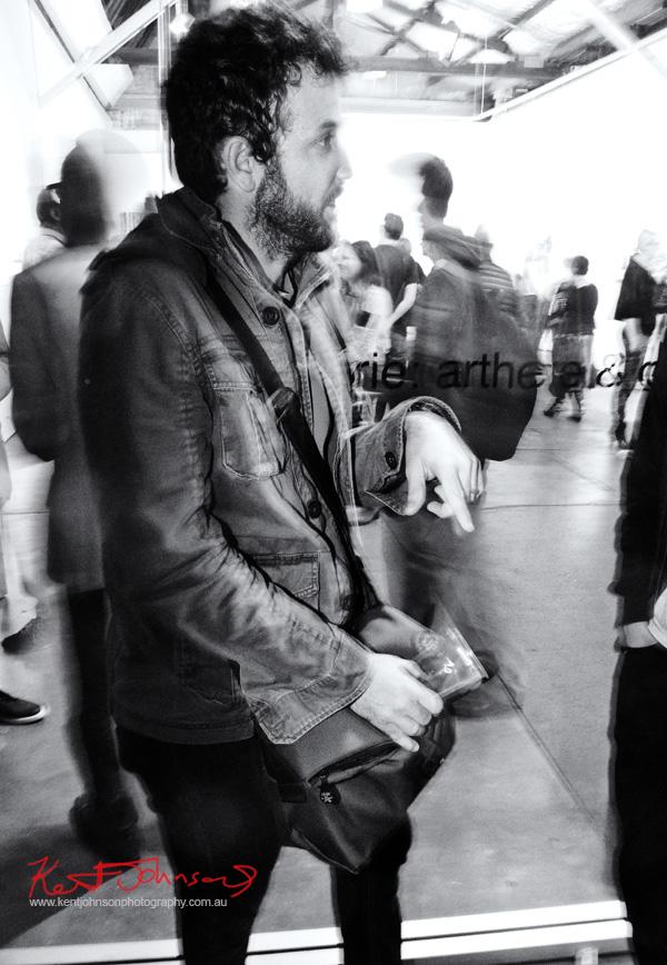 Photographers style, jacket with pockets. Street Fashion Sydney by Kent Johnson.