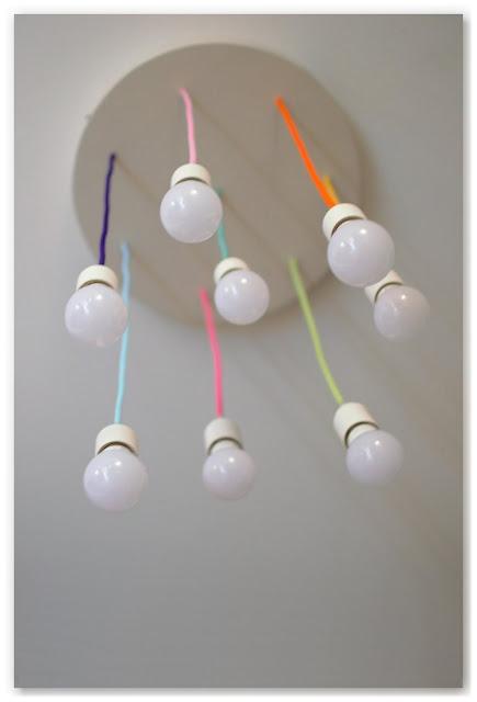 lustre multicolore DIY vu d'en-dessous