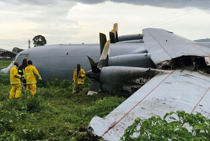 S.African military plane crash lands in Congo, no sign of major damage