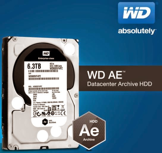 WD Introduces AE Series Hard Disk Drives for Datacenter Archive