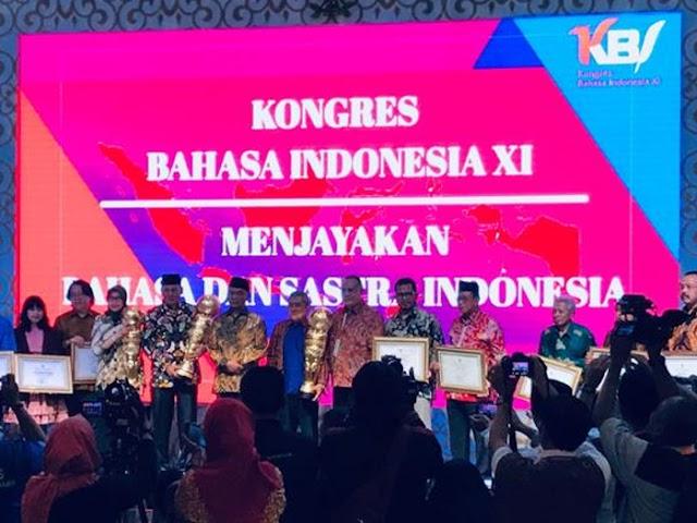 Inilah Para Penerima Penghargaan di Kongres Bahasa Indonesia XI