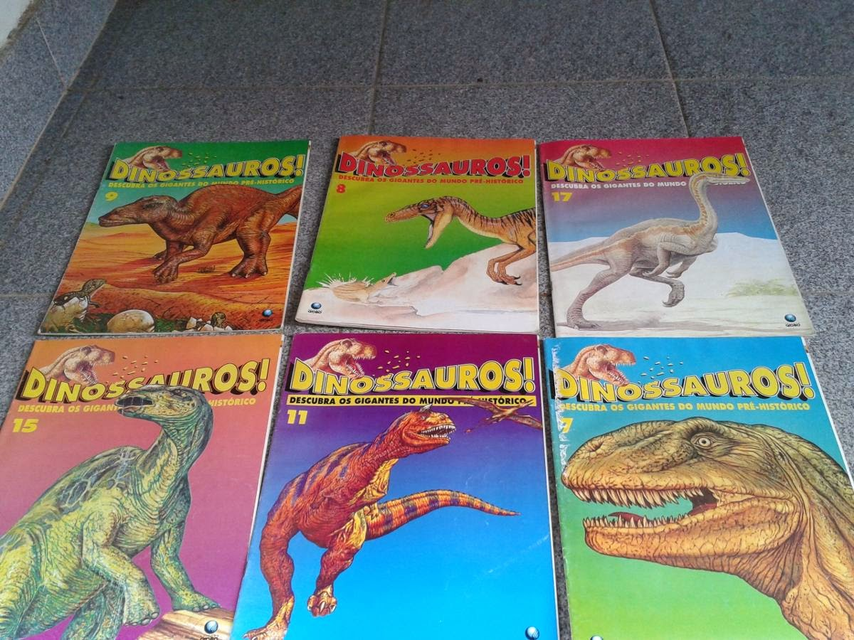 Coleção Revistas de Dinossauro Anos 90 Editora Globo