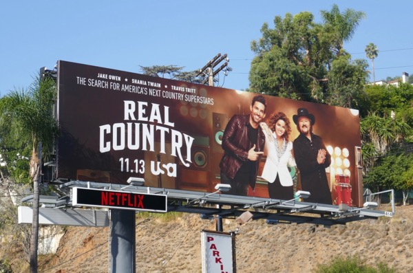 Real Country series launch billboard