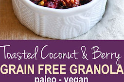 Toasted Coconut and Berry Grain Free Granola {Vegan, Paleo}