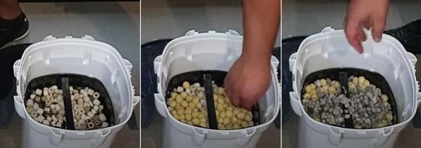 Setup third basket of canister filter