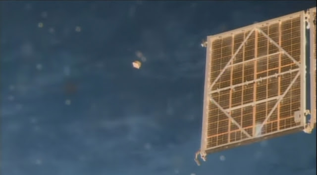 NASA did take the photos of this UFO near the ISS.