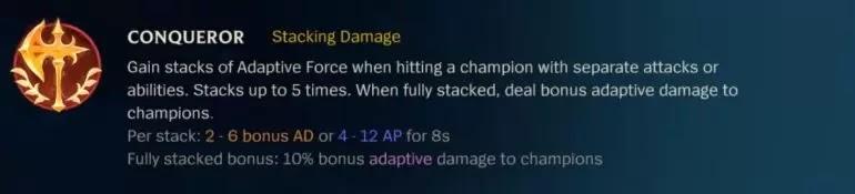 CONQUEROR Stacking Damage