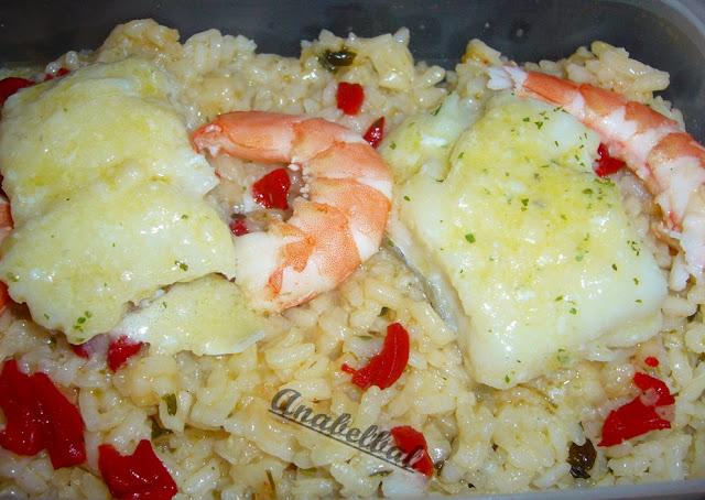 Bacalao al pil pil con arroz blanco - Arroz blanco con bacalao ...