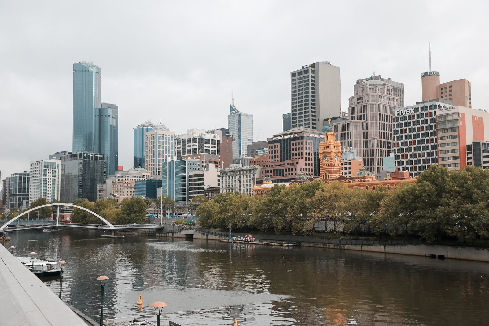 Skyline of Melbourne from Southbank