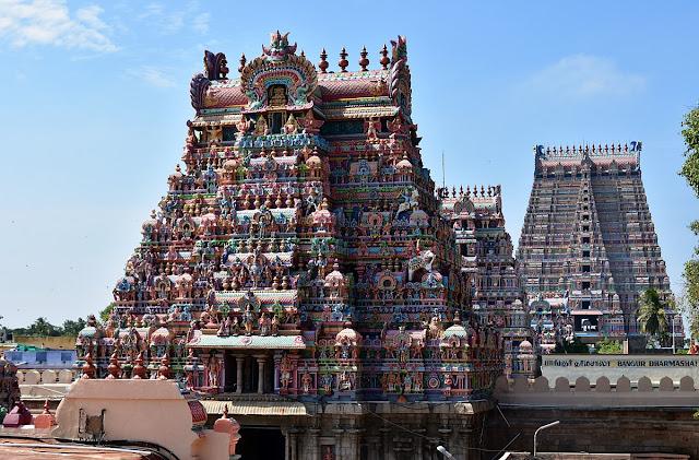 The Temple in Srirangham India dedicated to Vishnu said to have a Vimana in secret underground chamber.