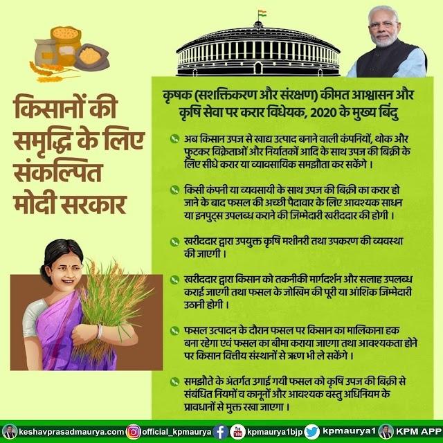 Farm bill 2020   संसद सत्र के पहले दिन किसानों के लिए कृषक सशक्तिकरण और संरक्षण विधेयक पारित।today breaking news hindi