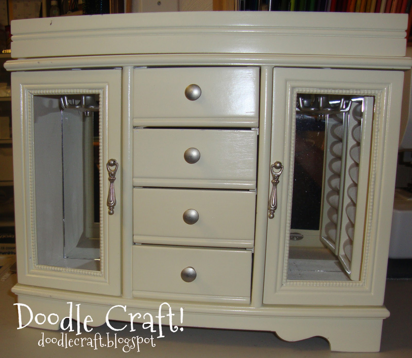 Doodlecraft Tabletop Jewelry Armoire