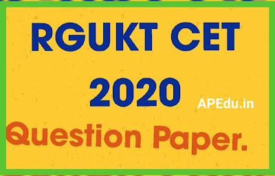 RGUKT CET 2020