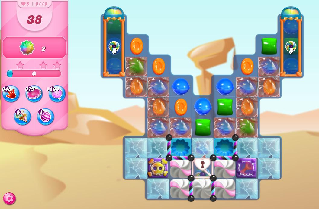 Candy Crush Saga level 9119