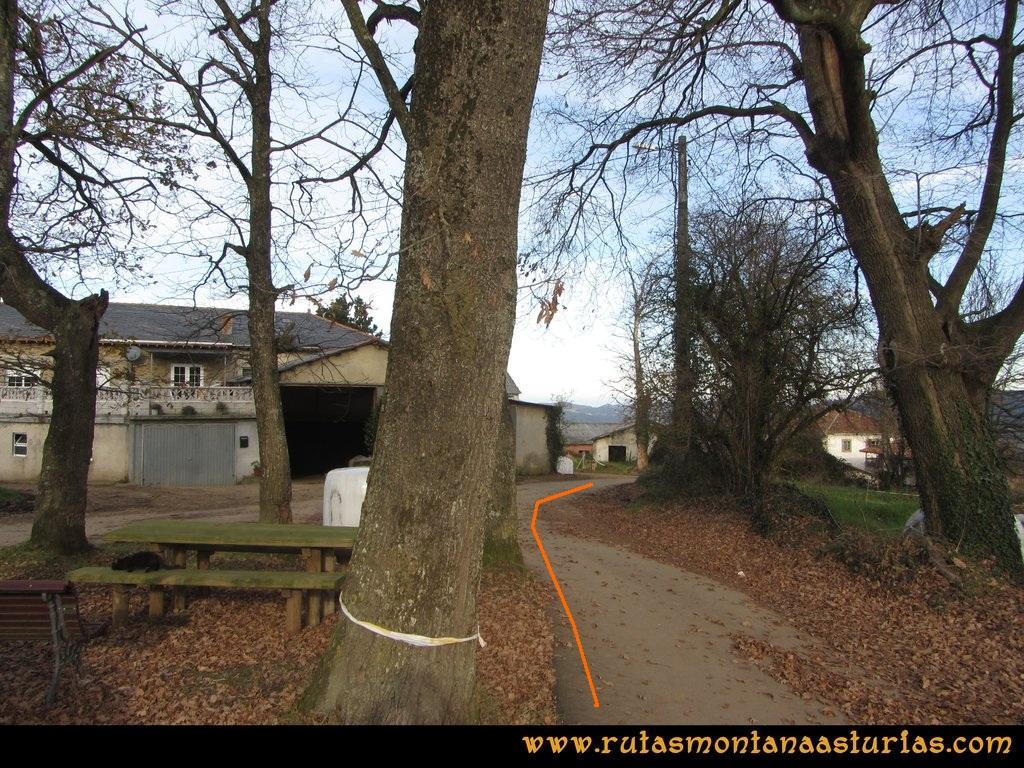 Senda de Bustavil, Tineo, PR AS-288: Inicio de la ruta