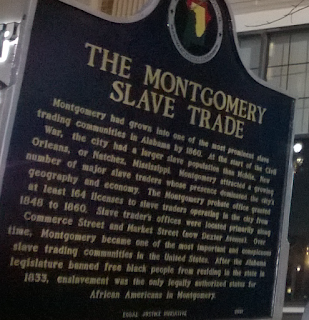 Montgomery Slave Trade Historical Marker