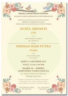 kalimat undangan pernikahan islami