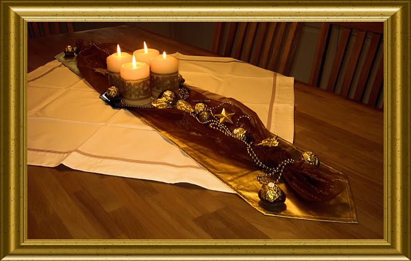 Rubes Testblog Ferrero Rocher Schnelle Tischdeko In Braun Creme Gold