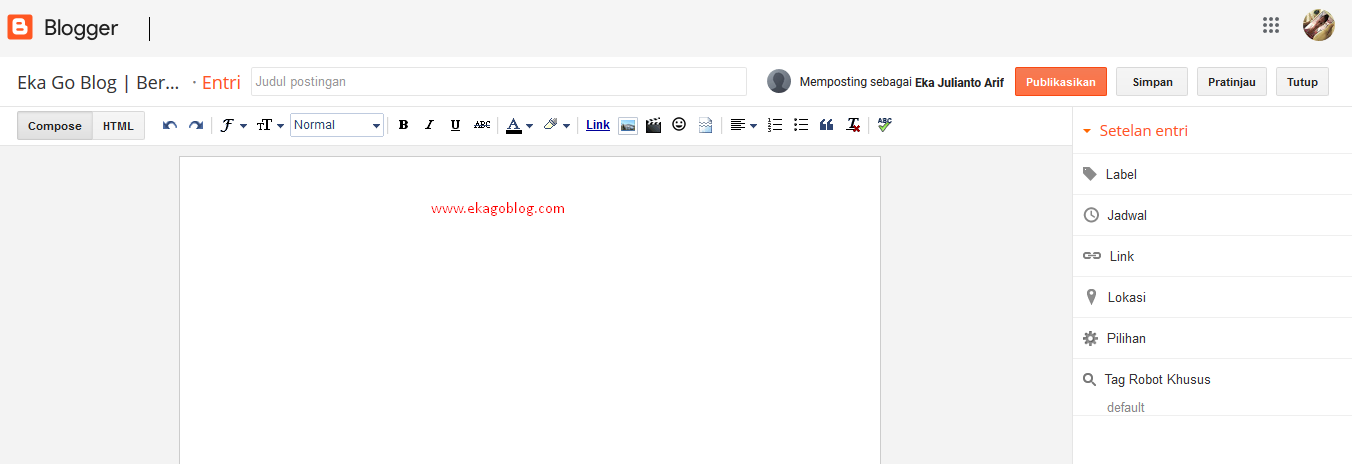 Cara Posting Perdana Sebagai Kontributor Blogger