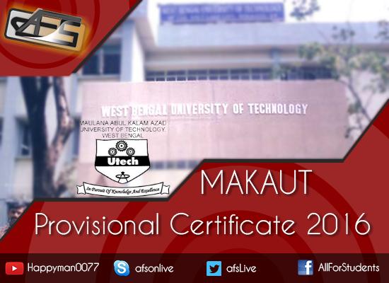 wbut provisional certificate 2012