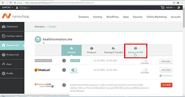 Cara-setting-dns-blog-di-namecheap