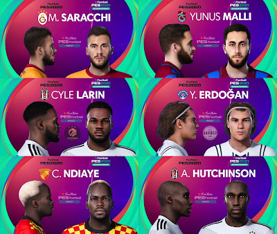PES 2021 Turkey Süper Lig Facepack 8 by PES Football Turkey