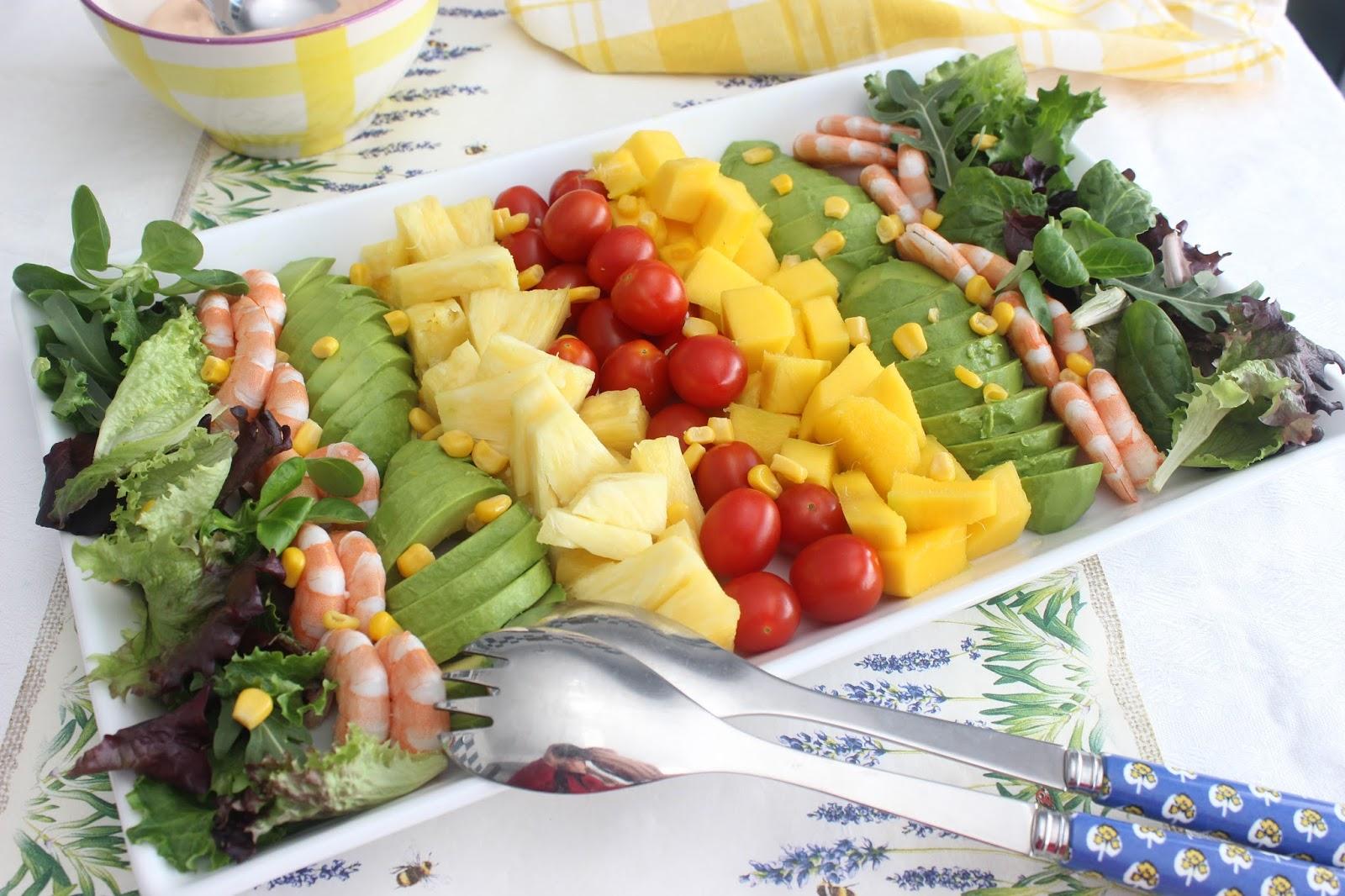 Ensalada tropical con langostinos las recetas de marichu for Comidas frescas