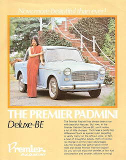 car advertisement of old days