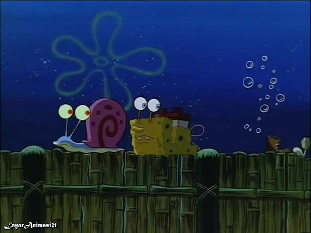 SpongeBob Season 1 Episode 13B - I Was A Teenage Gary SD 480p Dub Indo