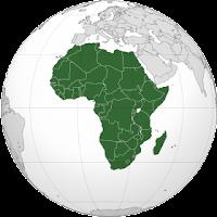 Le Chameau Bleu - Globe terrestre - Afrique