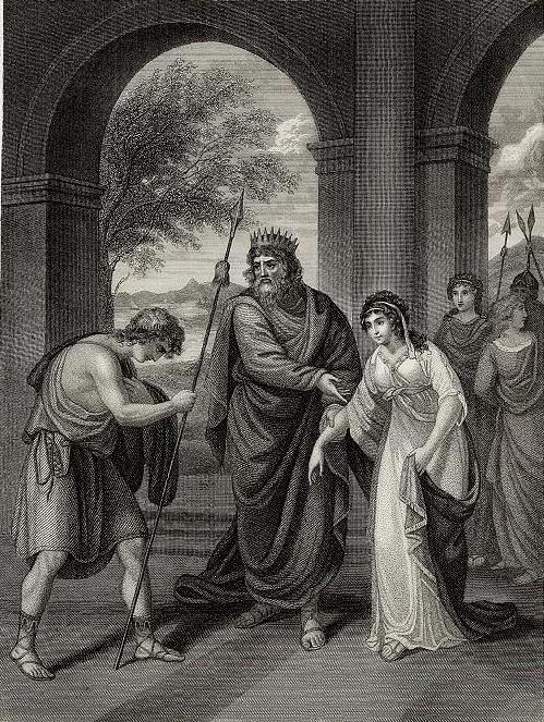 Saul presents his daughter Merab to David for wife