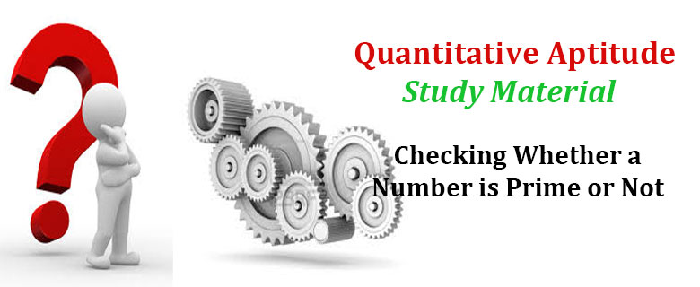 Check Whether a Number is Prime or Not QA SSC