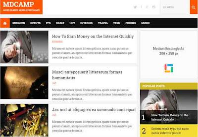 MDCAMP - AMP Blogger Theme