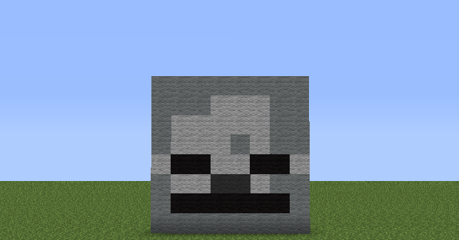 Minecraft Pixel Art Helper: Minecraft Skeleton Skull