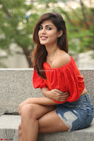 Rhea Chakraborty in Red Crop Top and Denim Shorts Spicy Pics ~  Exclusive 279.JPG