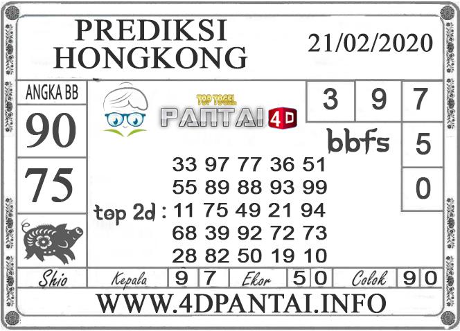 PREDIKSI TOGEL HONGKONG PANTAI4D 21 FEBRUARI 2020